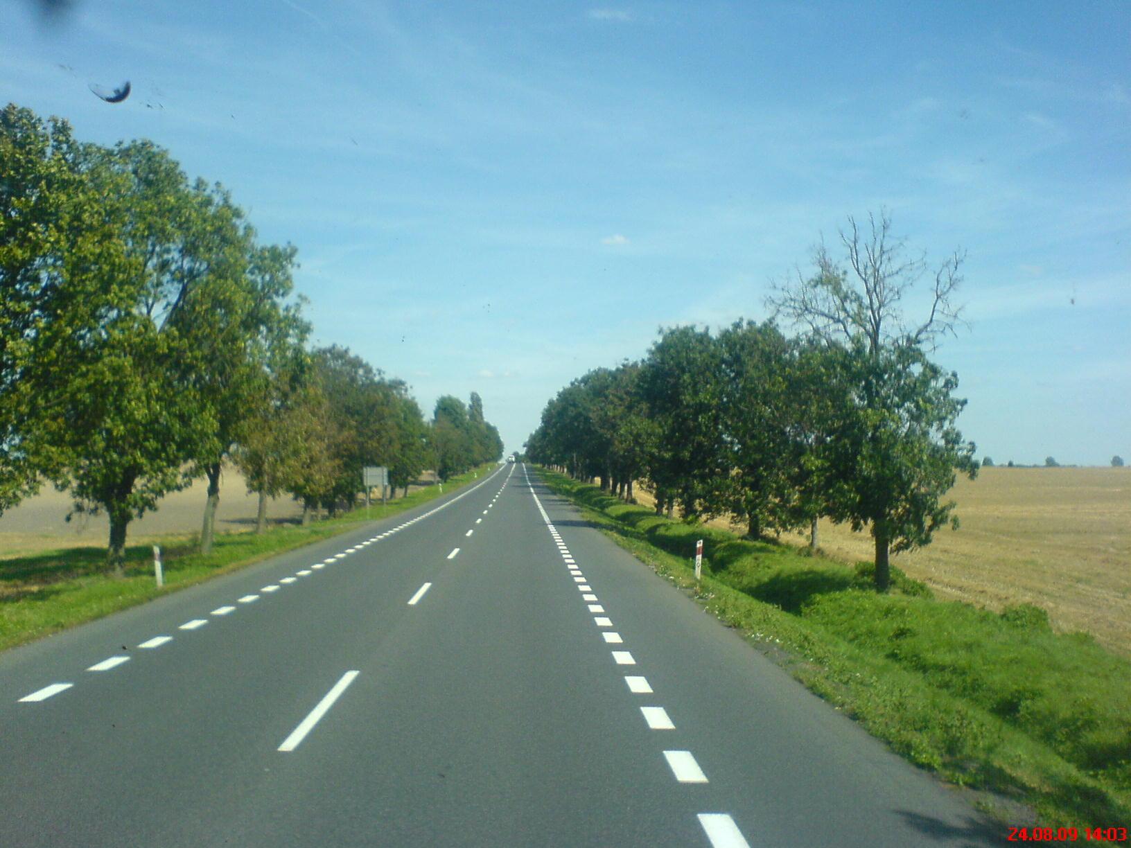 Bundestrasse in Polen